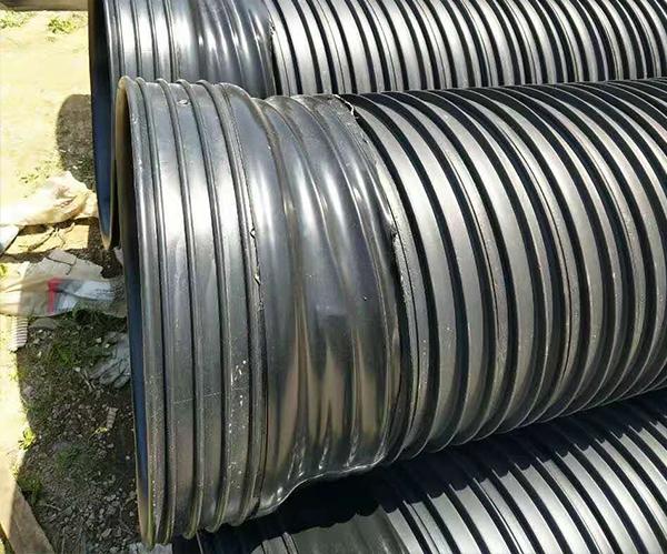鹤壁扩口承插HDPE塑钢缠绕管